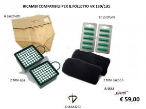 RICAMBI COMPATIBILI FOLLETTO VK 131